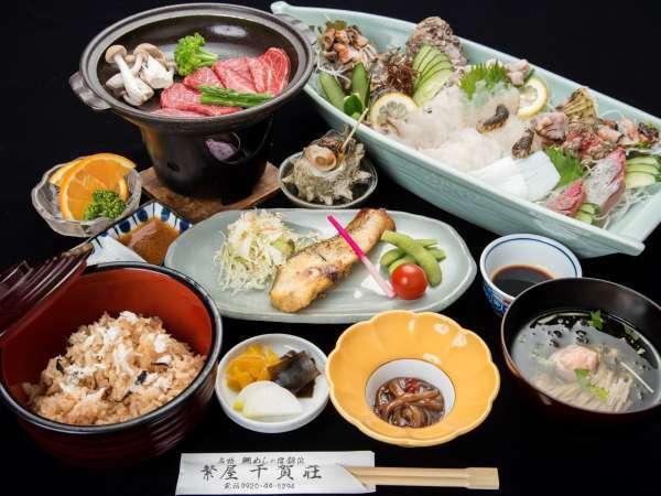 *【夕食一例】 質・量ともに満足していただける島グルメをご提供いたします