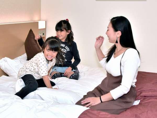 スーペリアツインなら家族一緒に泊まれます。楽しい家族旅行に子供たちも大喜び♪