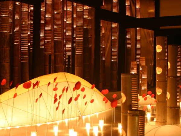 【イベント秋】うすき竹宵/伝統的な町並みを「竹ぼんぼり」と「オブジェ」の幻想的な優しい光が包みます。