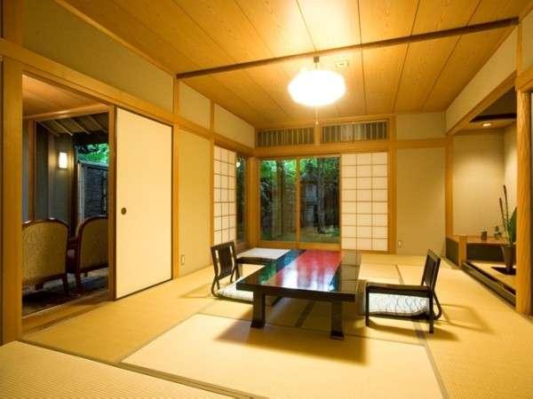 露天風呂付客室一例 和室2間