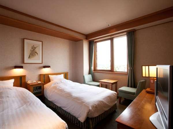 ◆スタンダードツイン/木製家具が優しい雰囲気(24㎡)