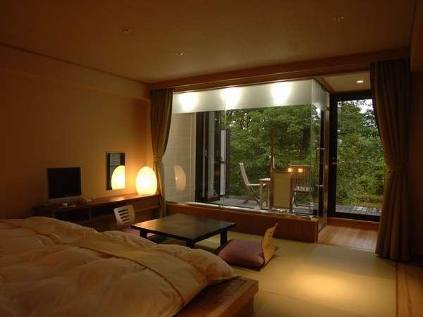 【スパ付き客室】窓を開ければ半露天風呂に☆大自然を眺めて贅沢なひと時を・・・