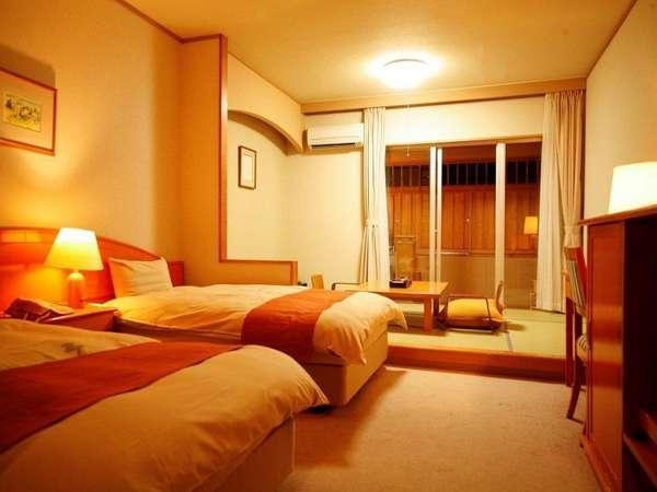 ホテル棟和洋室タイプ。露天時風呂付客室(一例)