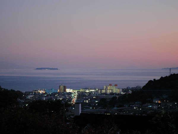 外湯「海望庵」~湯河原の町並みの夜景も~