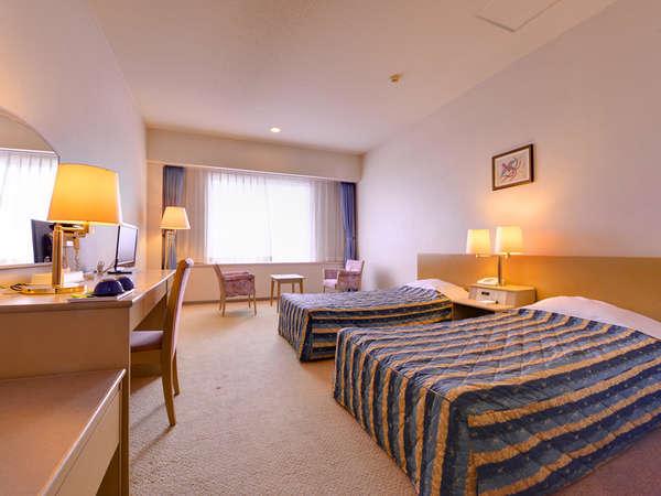 *ツインルーム(客室一例)/ゆとりのある客室は、ビジネスや観光、長期ご滞在のお客様にオススメです!
