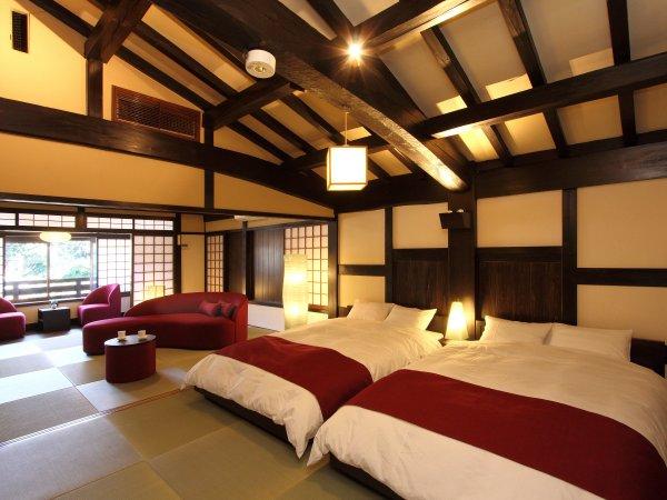 【木の香 -このか-】2016年3月にリニューアルされた和風ツイン16畳のお部屋です。
