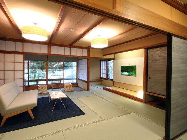 【モダン和室西館】2018年3月にリニューアルされた和室10畳のお部屋です。