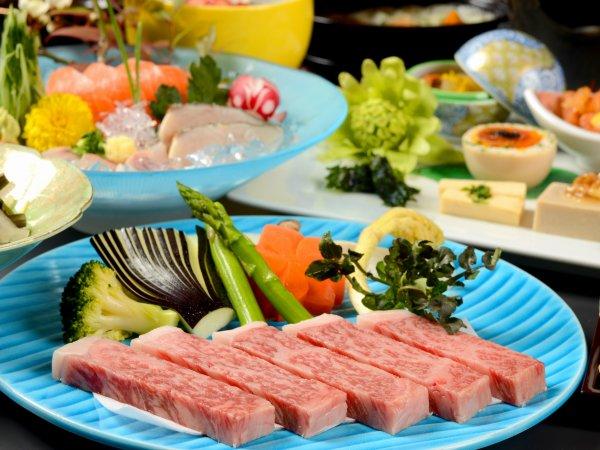 ≪夕食一例≫和牛ステーキ100グラム!!お好みの焼き加減でお召し上がりください。