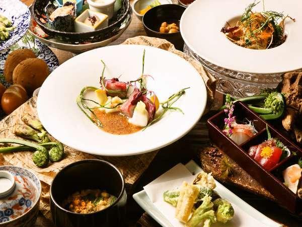 【和モダン美食コース】総料理長が自信をもってお勧めする リゾートホテル蓼科の新しい料理スタイルです。
