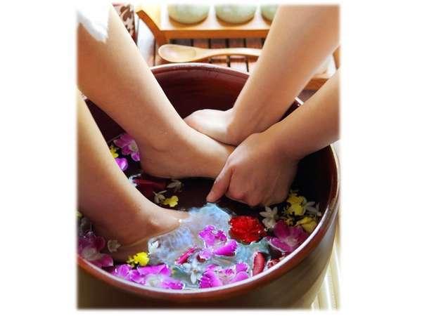 花々の香りにうっとりと・・・心も身体もこの上ない癒しのひと時をご堪能ください