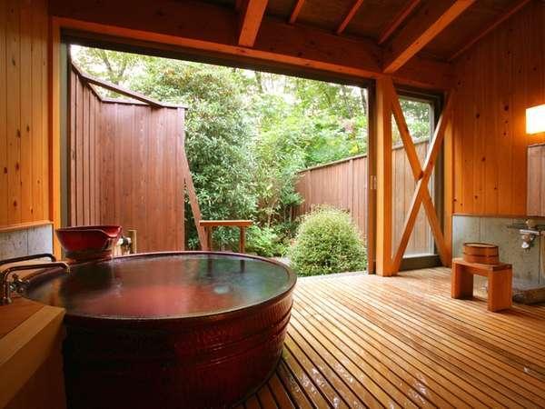 畳のお休み処がついた貸切温泉はちょっぴり贅沢気分!(赤陶器の湯「羽衣」)