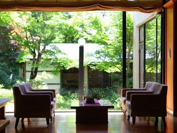 【中庭の眺め】中庭を眺めながらのんびり