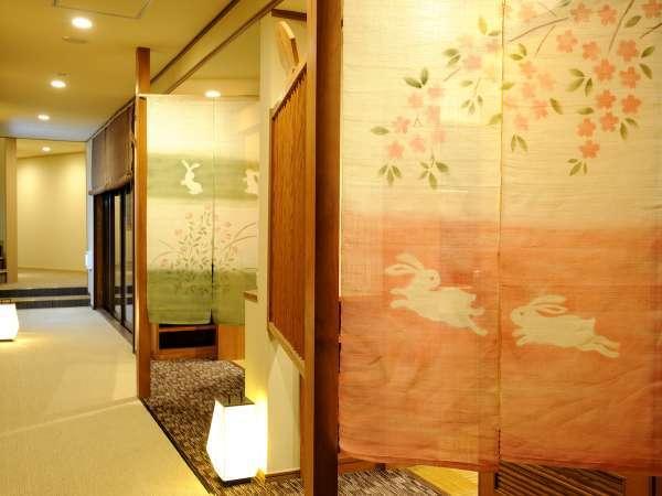 浴場前ろうか/いけがみのお風呂は全2箇所でそれぞれが貸切風呂です