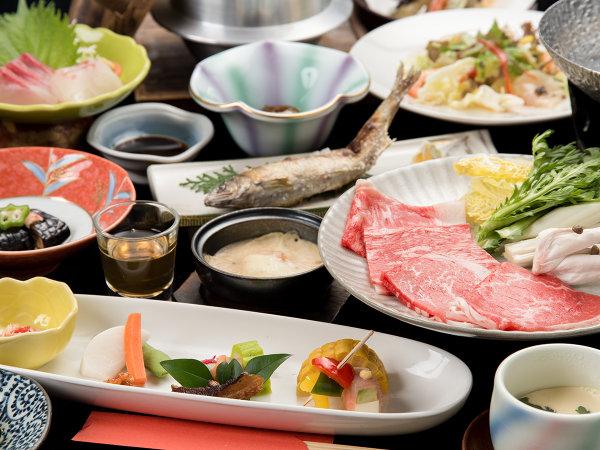 *【夕食一例】大分ならではの食材をたっぷり使った品々。
