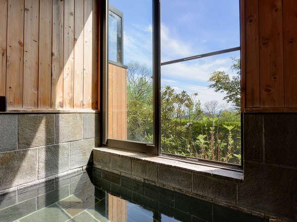 *風呂(貸切・石)/温泉と遠赤外線効果で体がぽっかぽかになります。
