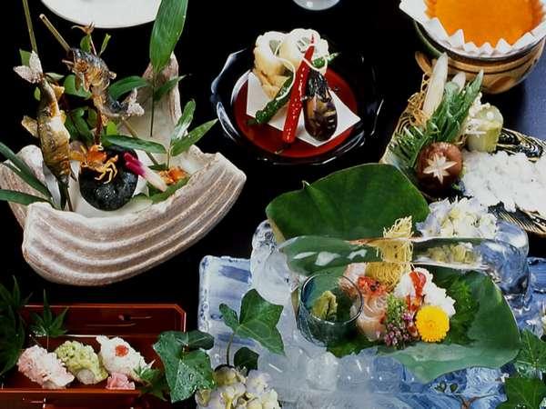 夏ならではの味覚が集う会席料理(イメージ)