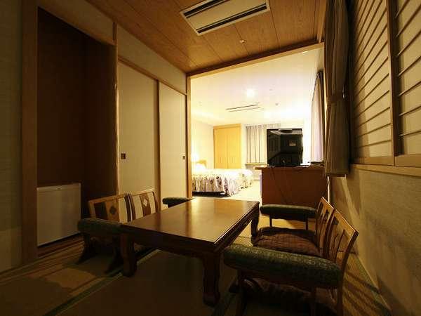 和室とツイン&くつろぎスペースのある特別室