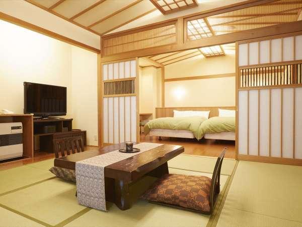 【客室一例】特別室…和室とベッドルームを備えた、広々贅沢な空間です