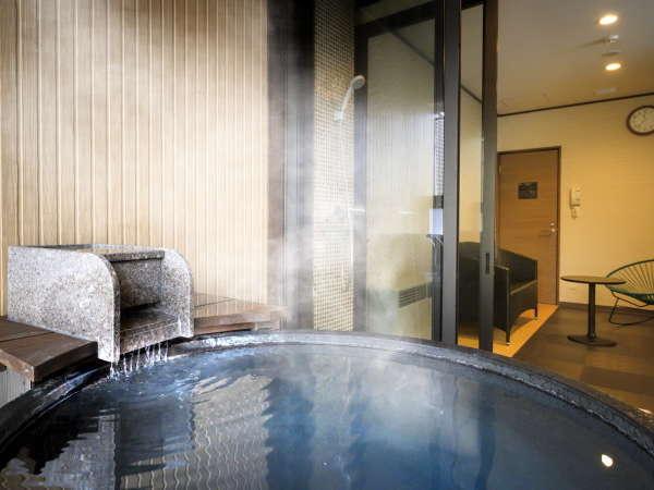 貸切風呂(一例)/源泉一乃湯だけの特別な温泉をお楽しみください。