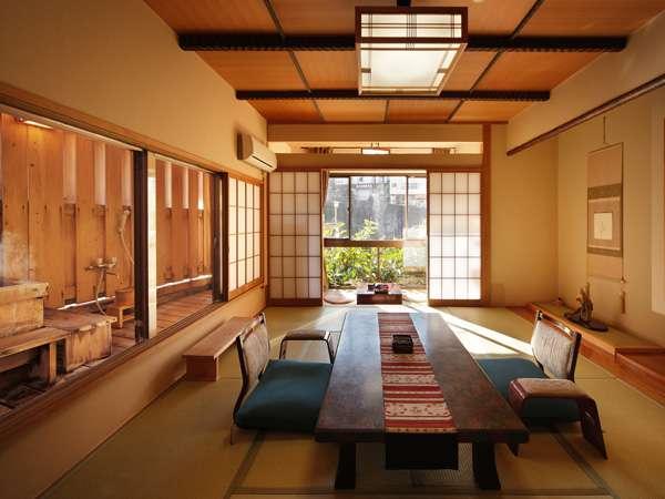 ◆【禁煙】10畳の半露天風呂付客室(一例)