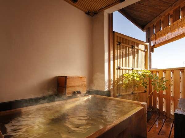 ◆【禁煙】源泉かけ流し半露天風呂付10畳客室/(一例)