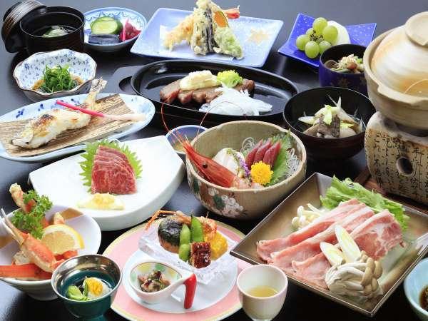 ◆ご夕食/山と川の幸を活かしたお料理をご用意※イメージ