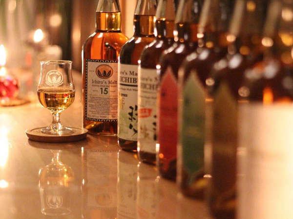 【BAR】希少な地ウイスキー・イチローズモルトはもちろん、オリジナルカクテルやおつまみも人気です。