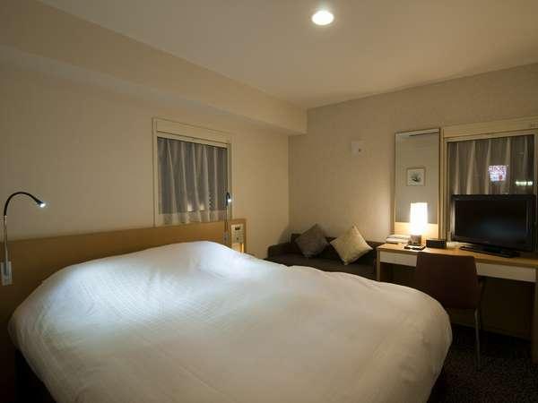 【ダブルルーム】ベッド幅160cm~クイーンサイズ~カップル&ご家族でゆったりと・・・
