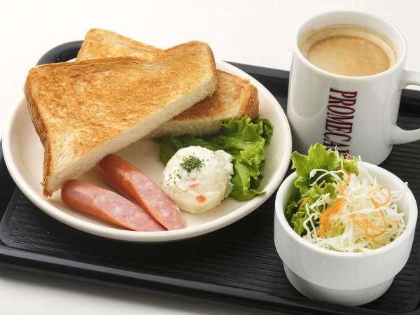 《無料朝食》AM6:30~AM11:00で。隣接カフェでお召し上がりになれます。
