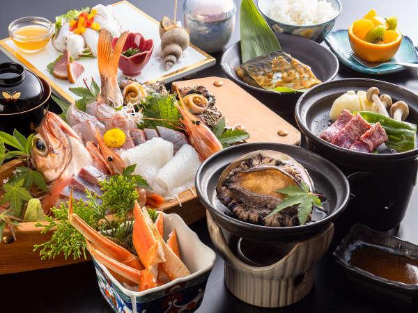 【小天橋温泉 きららの湯 料理自慢の漁師宿 隆進】漁師宿だから味わえる贅!日本海の恵みと温泉に酔いしれて下さい♪
