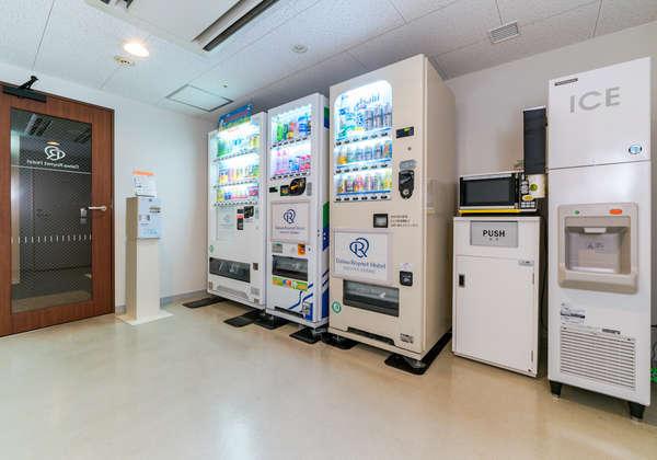 自動販売機は3階と10階にご用意がございます