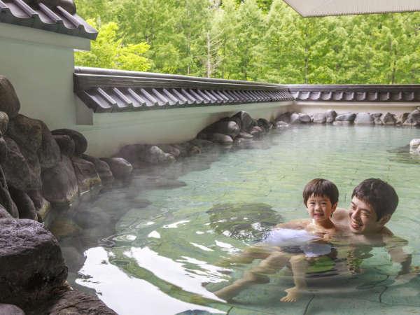 露天風呂からは北湯沢の景色をお楽しみください