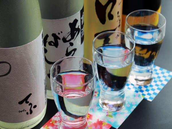 会津の地酒を飲み比べ♪