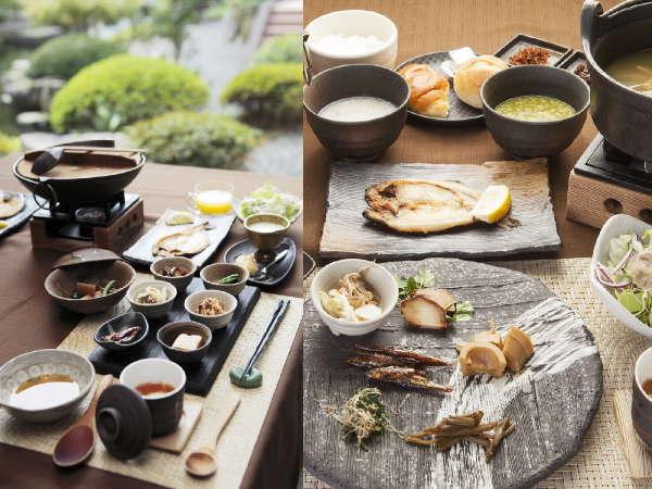 朝食(一例)お食事は全て個室食事処でご用意いたします。