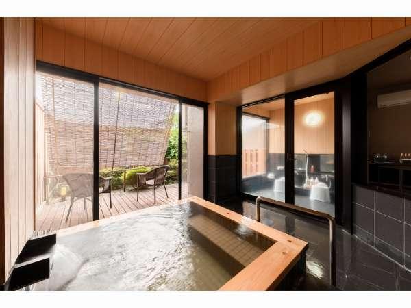【貸切半露天風呂】(1回/45分 2200円)至福な時間をご提供致します。