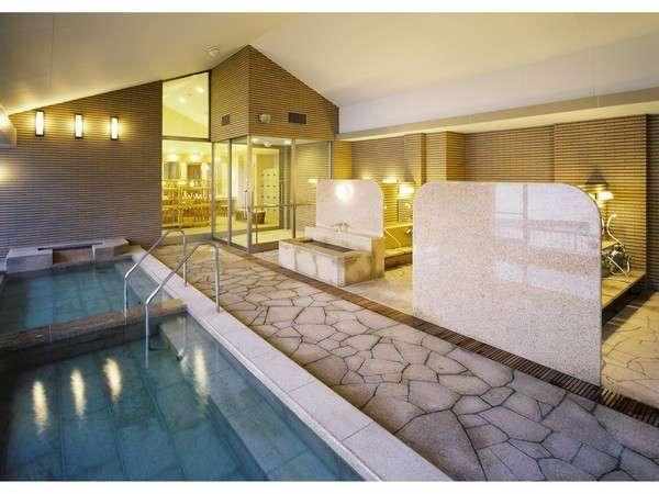 6階パノラマ大浴場です。熱湯、ぬる湯、打たせ湯があります。