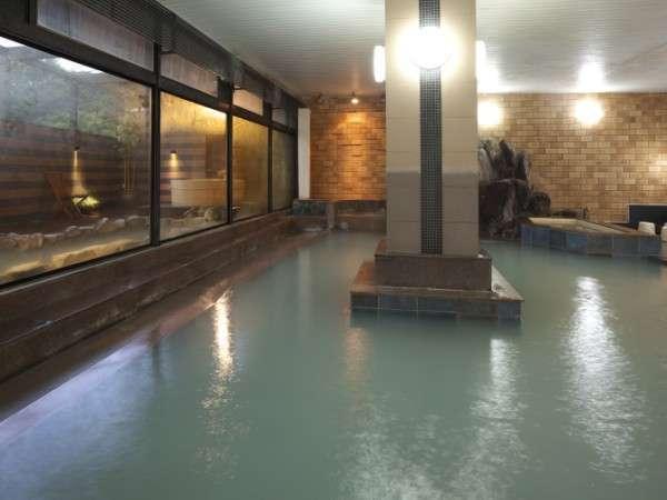湯畑源泉がそのまま掛け流されている大浴場「泉」