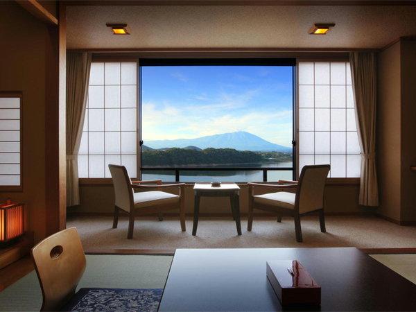【盛岡つなぎ温泉 ホテル紫苑】「全室がレイクビュー」 美しい湖と岩手山を眺める特等席へご案内