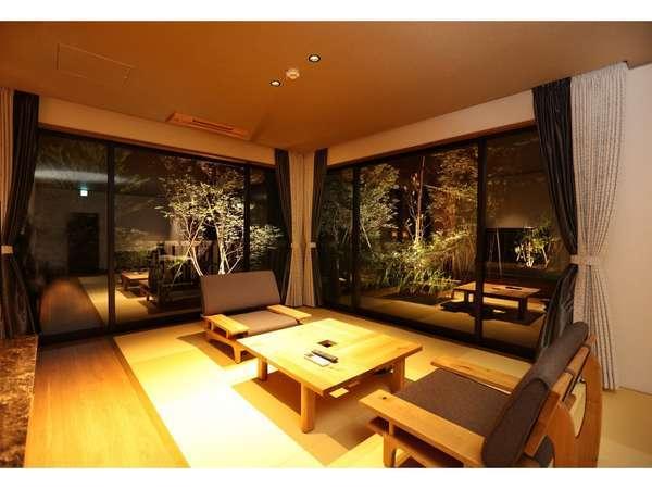 タイプG【釈迦岳】定員2名の客室です。最大3名までご宿泊いただけます。広々73㎡