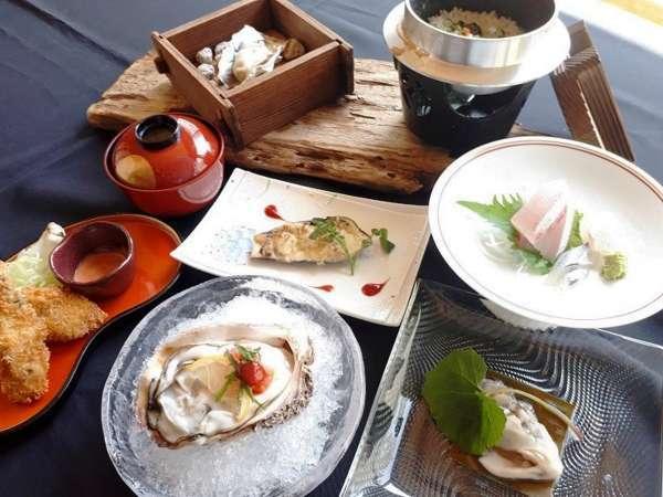 氷見産 天然とれたて 岩牡蠣コース♪いろいろな食べたかで美味しさを堪能!!