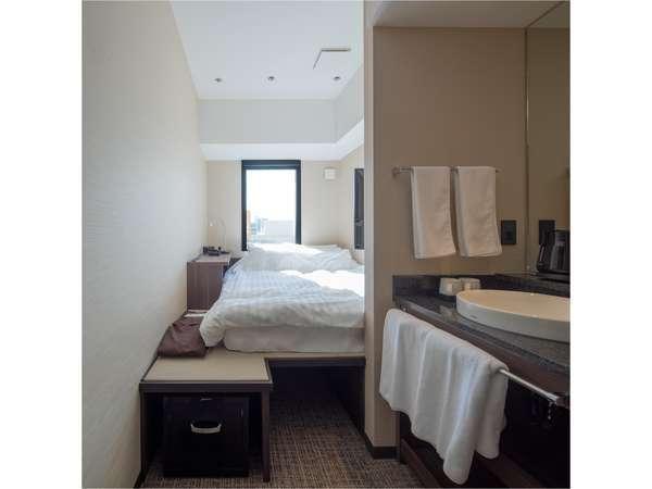 ミニマルシングルルーム※シャワー無。大浴場をご利用ください(ベッド幅150cm、部屋の広さ9㎡)