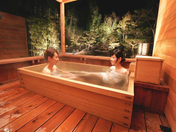 【火水風別館】庭園を眺めながらゆったりできる客室露天風呂