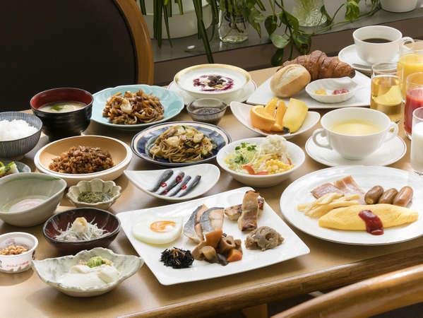 ◆朝食バイキング◆ 地産地消メニューが充実♪約30種の豊富な品揃え。