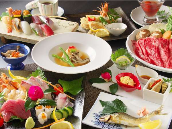 【離れ:いろどりプラン】離れのお料理には、お寿司付♪