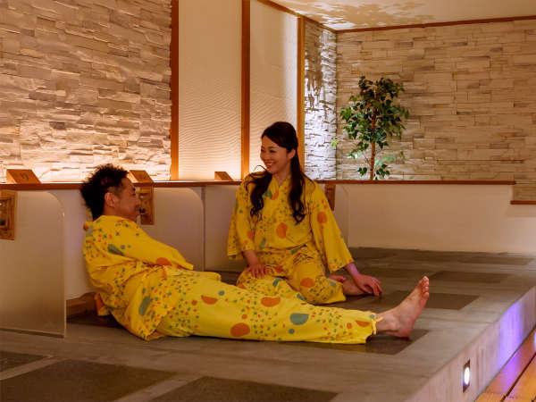 【岩盤風呂】横になるだけでポカポカと体が温まる岩盤風呂は、男女ともにご利用いただけます
