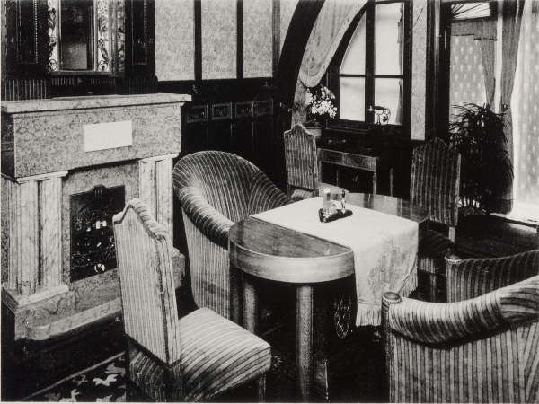 昭和天皇がご宿泊されたお部屋。現在は展示室として移築。