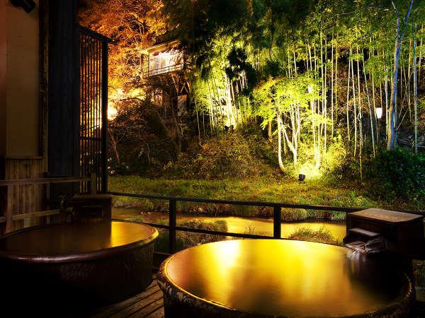 *本館「庄助の宿 瀧の湯」の貸切眺望風呂「十六夜の湯」のイメージ♪