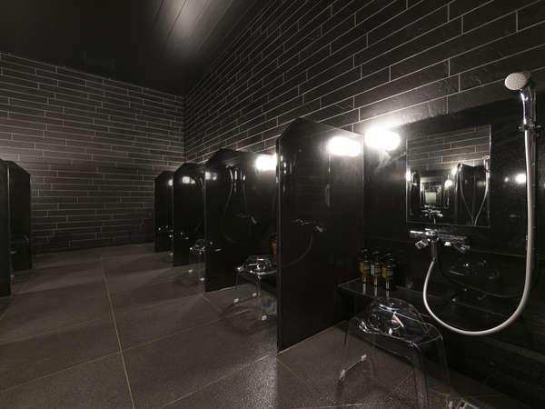 湯どころ(大浴場)のシャワーブース