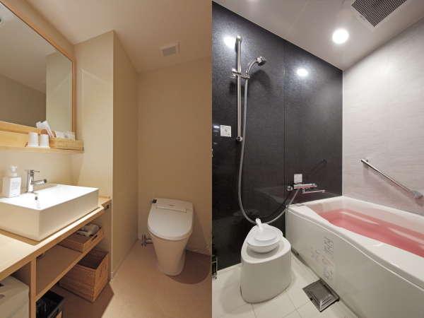 トイレバス別・洗い場付きバスルームと広めの洗面所