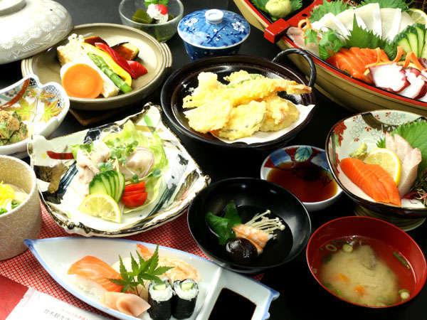 ≪スタンダードのご夕食一例≫※お料理内容はその日によって変わります。